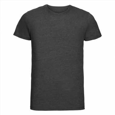 Basic ronde hals t-shirt vintage washed antraciet voor heren