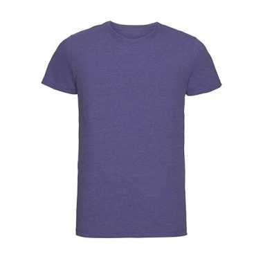 Basic ronde hals t-shirt vintage washed paars voor heren
