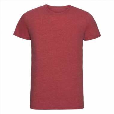 Basic ronde hals t-shirt vintage washed rood voor heren