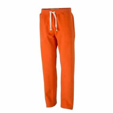 Heren oranje jogging broek vintage