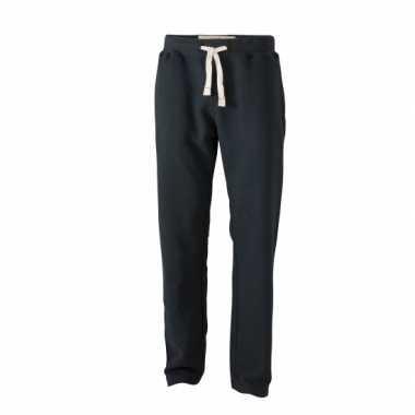 Heren zwart jogging broek vintage