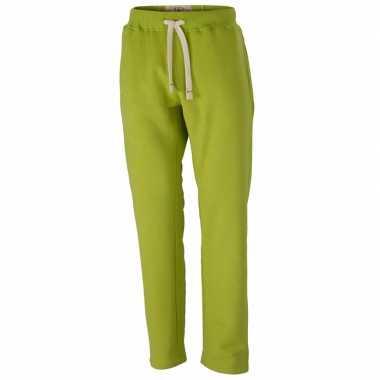Lime heren joggingbroek vintage
