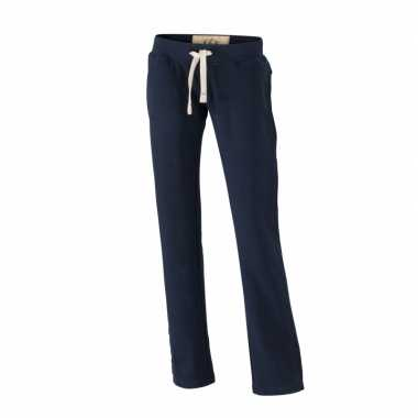 Navy dames joggingbroek vintage