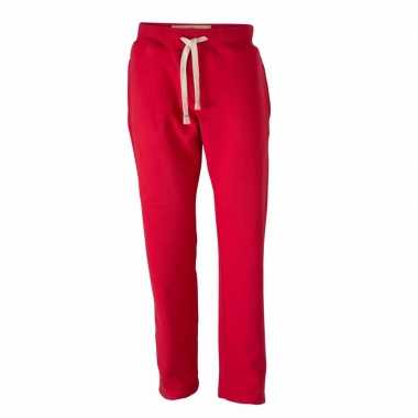 Rode heren joggingbroek vintage