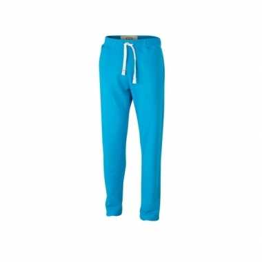 Turquoise heren joggingbroek vintage