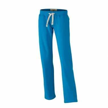 Turquoise jogging damesbroek vintage