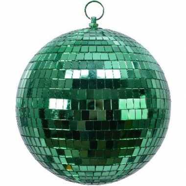 Vintage 1x groene disco kerstballen discoballen/discobollen foam 20 cm