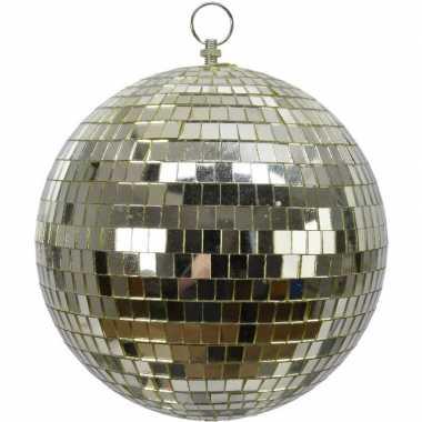 Vintage 1x grote gouden disco kerstballen discoballen/discobollen foam 20 cm