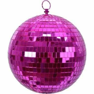 Vintage 1x roze disco kerstballen discoballen/discobollen foam 20 cm