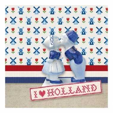 Vintage 20 stuks servetten ik hou van holland thema 3-laags