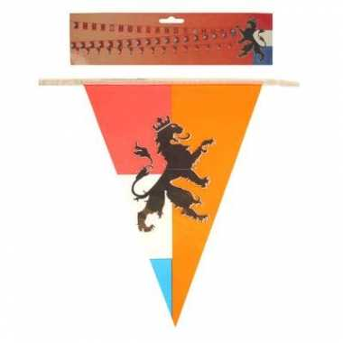 Vintage 2x stuks retro vlaggenlijnen nederland/holland van 10 meter