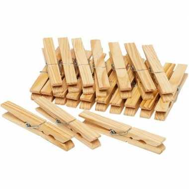 Vintage 60x houten wasknijpers