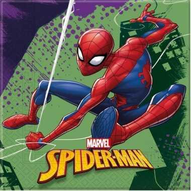 Vintage 60x marvel spiderman themafeest servetten 33 x 33 cm