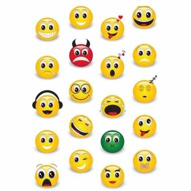 Vintage 60x smiley/emoticons stickers met 3d effect met zacht kunstst