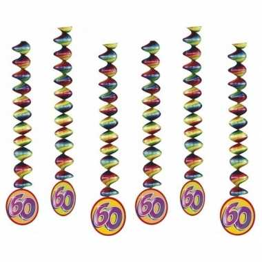 Vintage 6x rotorspiralen 60 jaar versiering feestartikelen