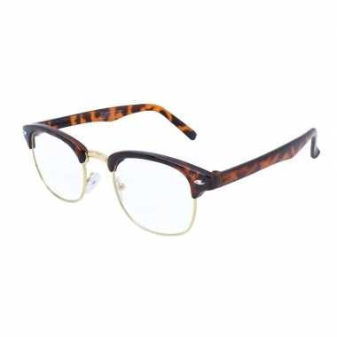 Vintage abraham/sarah pop feest bril voor volwassenen