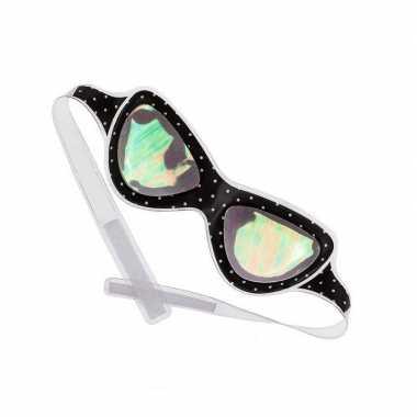 Vintage alien bril / oogmasker voor volwassenen