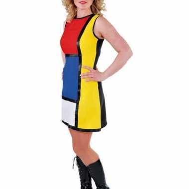 Vintage art work jurk voor dames