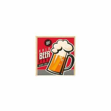 Vintage bier servetten 20 stuks