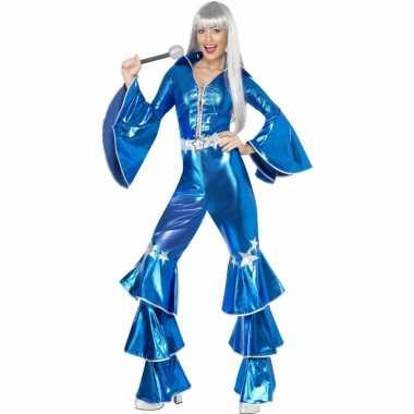 Vintage blauw dancing queen kostuum 70s