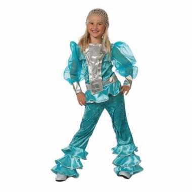 Vintage blauw mama mia kostuum voor meisjes