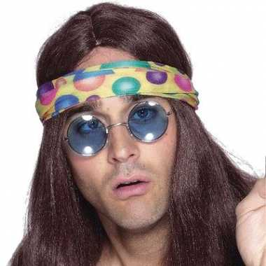 Vintage blauwe hippie bril