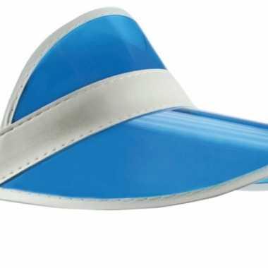 Vintage blauwe zonneklep transparant