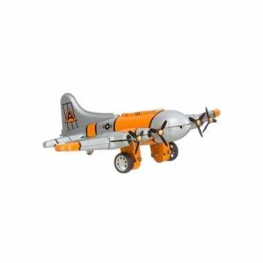 Vintage blikken vliegtuigje 16 cm