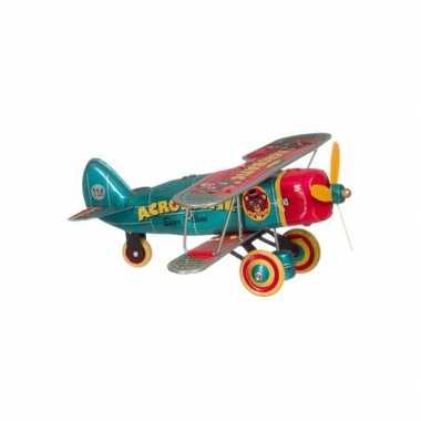 Vintage blikken vliegtuigje 18 cm
