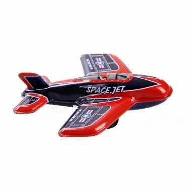 Vintage blikken vliegtuigje space jet 11 cm