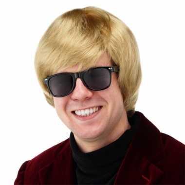 Vintage blonde duitse heren pruik