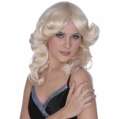Vintage blonde jaren 60 dames pruik