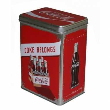 Vintage coca cola bewaarblik 3 liter