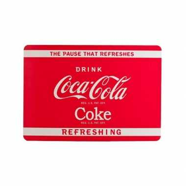 Vintage coca cola placemat rood