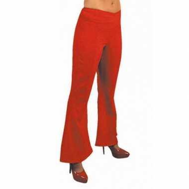 Vintage dames hippie broek rood