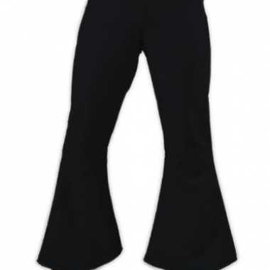 Vintage dames hippie broek zwart