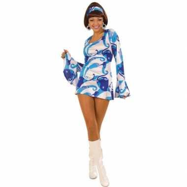 Vintage dames hippie jurkje blauw