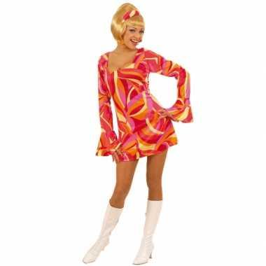 Vintage dames jurkje met seventies print