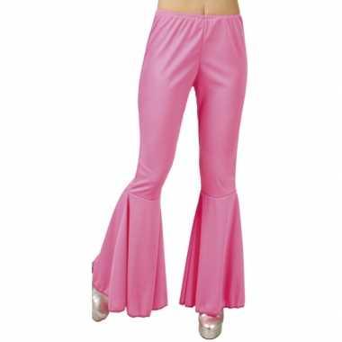 Vintage disco broek roze voor dames
