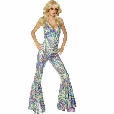 Vintage disco catsuit voor dames