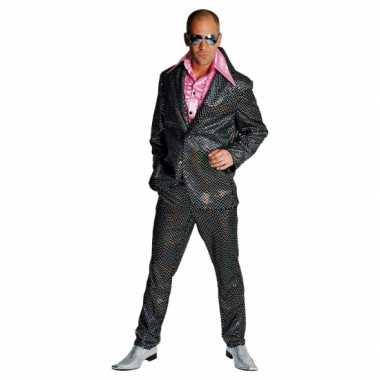 Vintage disco kostuum heren zwart