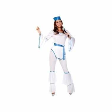 Vintage disco kostuum wit voor dames