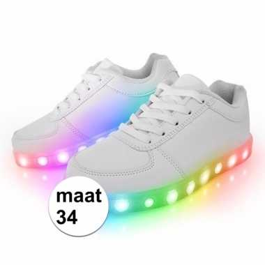 Vintage disco led kinderschoenen maat 34