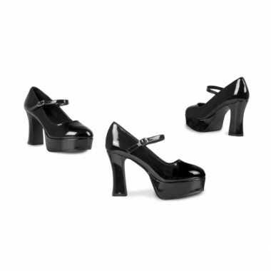 Vintage disco schoenen voor dames met hoge hak
