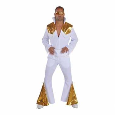 Vintage elvis vegas kostuum wit goud