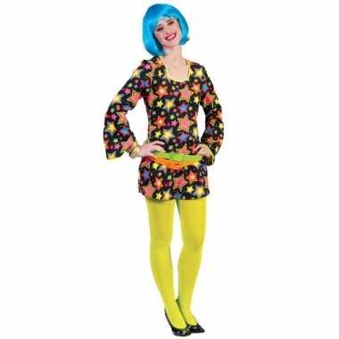 Vintage funky disco jurk met sterren
