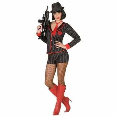 Vintage gangster verkleed kostuum voor dames