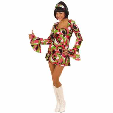 Vintage gekleurd hippie jurkje voor dames