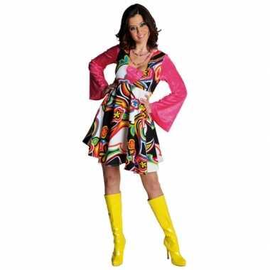 Vintage gekleurde hippie jurk voor dames