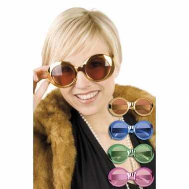 Vintage glimmende ronde disco bril